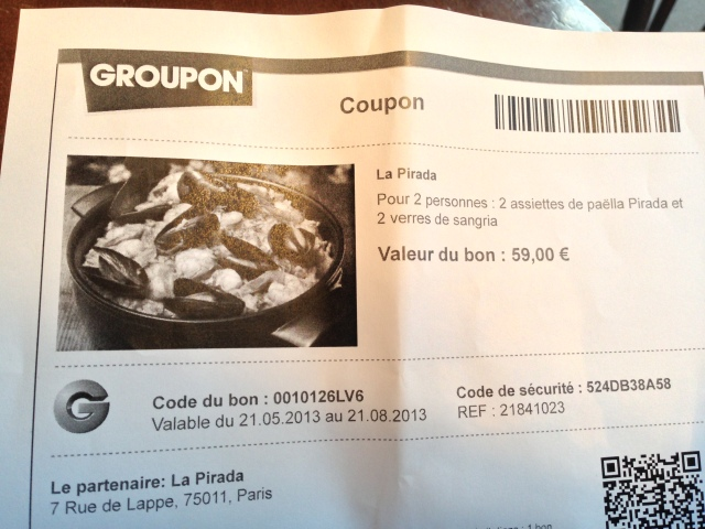 Groupon in Paris