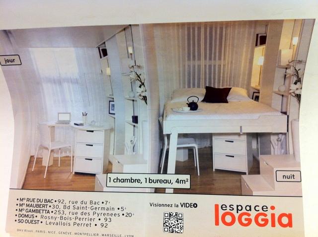 Apartment size in Paris