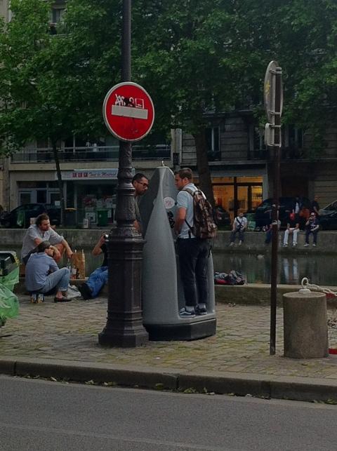 Urinals in Paris
