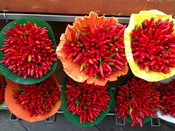 Peppers at a street stall in Venice