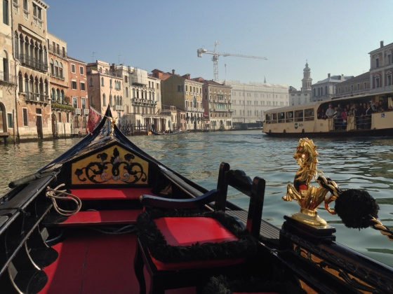 A ride in a Venetian gondola
