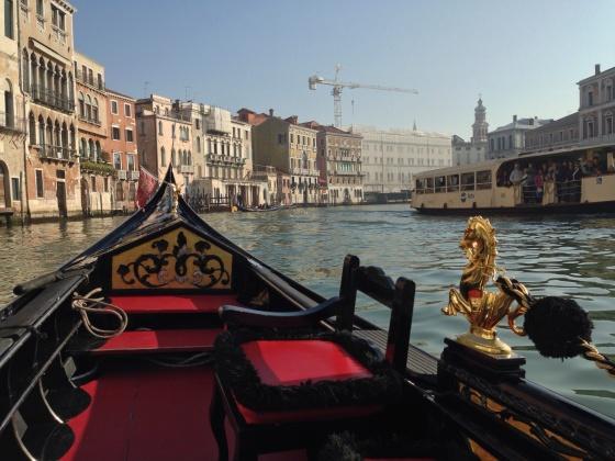 A ride in a Venetian gondola