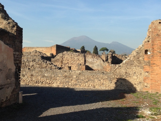 Mt. Vesuvius from the ruins of Pompeii